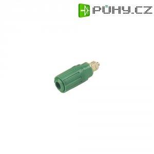 Pólová svorka SKS Hirschmann PKI 100 (930757104), (Ø x d) 15 x 41,5 mm, zelená
