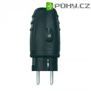 Chráněná zástrčka gumová, 230 V, 16 A, IP20, černá