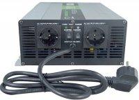 Měnič+UPS+nabíječ 12V/230V/1500W, čistá sinus., Soluowill NPS1500