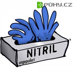Jednorázové nitrilové rukavice Leipold + Döhle 14694, velikost M, modrá, 100 ks