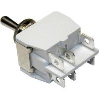Páčkový spínač pro vysoké proudové zatížení APEM 641H/2 / 6413676, 250 V/AC, 15 A, 2x vyp/zap, 1 ks