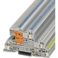 Vícenás. instalační svorka Phoenix Contact UTI 2,5-PE/L/NT (3076028), šroubovací, šedá