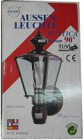 Nástěnné světlo RUSTICA s PIR čidlem, černé 230V/60W DOPRODEJ