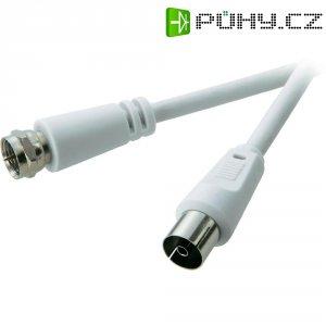 Anténní kabel Speaka, F-konektor ⇔ 4x anténní konektor, 50004, bílá, 1,5 m,