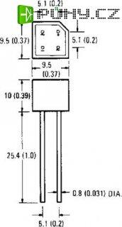 Můstkový usměrňovač IR 1KAB05E, U(RRM) 50 V, U(FM) 1 V, I(F) 1,5 A, D-38