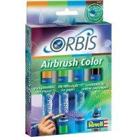 Airbrush barevné patrony Orbis, oranž./zelené/sv. modrá/hnědá