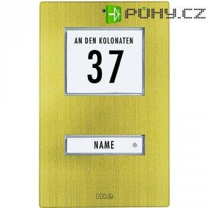 Zvonková deska M-e GmbH KT 1-AG, 1 tlačítko, max. 12 V/1 A, zlacený hliník