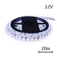 LED pásek 12V 3528 60LED/m IP65 max. 4.8W/m bílá studená (cívka 20m) zalitý