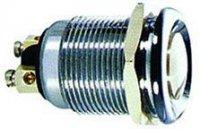 Tlačítko OFF-(ON) 1pol.250V/2A celokovové PBS-28B3