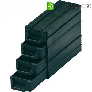 ESD zásuvka na součástky BJZ C-188 054, 120 x 40 x 20 mm, černý