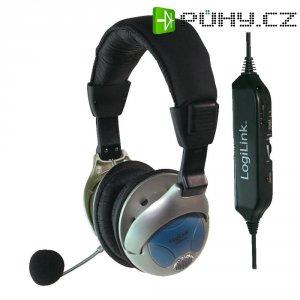 Sluchátka s mikrofonem LogiLink Stereo