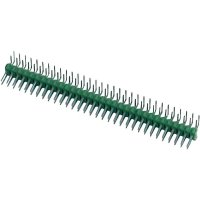 Kolíková lišta MOD II TE Connectivity 1-826953-0, úhlová, 2,54 mm, zelená