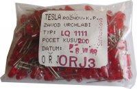 LED 4mm červená difuzní LQ1111, balení 200ks