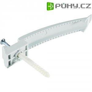 Nástěnný držák kabelů 700906, 8 kabelů 3 x 1.5 mm² + hmoždinka s vrutem
