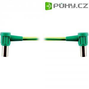 Propojovací spojka MultiContact 55.3210-10020, PVC, adaptér úhlový, 6 mm², zelenožlutá
