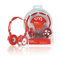 Sluchátka KNG-5030 Droid, polouzavřená, červená