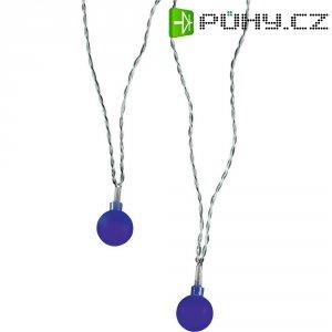 Vnitřní vánoční řetěz Polarlite, 20 LED, 1,07 m, modrý
