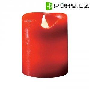 Dekorativní LED svíčka, 8 x 10 cm, červená
