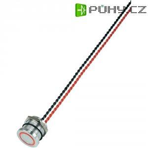 Piezo tlačítko, 24 V DC/AC, 0,2 A, IP 68, PS193P10Y01G24T, červená LED, ploché