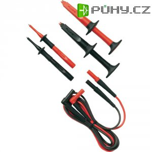 Sada měřicích kabelů banánek 4 mm ⇔ banánek 4 mm Fluke TL223-1, 1,5 m, černá/červená