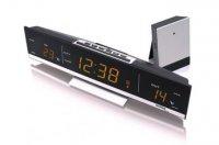 Digitální teploměr s budíkem s LED displejem WS6810A