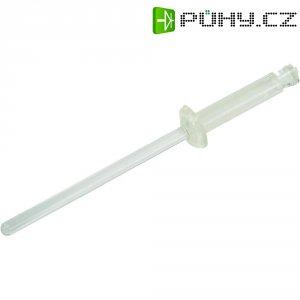 Slepé nýty 3.5 - 6.5 mm, polyamidové, transparentní