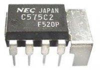 uPC575C2 - nf zesilovač 2W DIL8