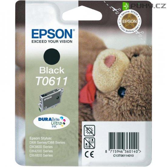 Cartridge do tiskárny Epson T0611, C13T06114010, černá - Kliknutím na obrázek zavřete