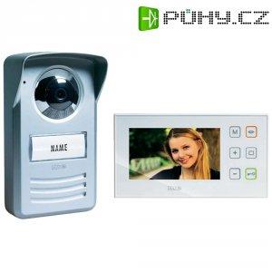 Domácí videotelefon m-e, PVD-4410, 1 rodina, bílá/stříbrná