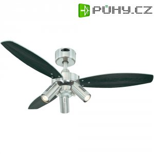 Stropní ventilátor Westinghouse Jet Plus, Ø 105 cm, wenge+stříbrná/nikl