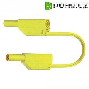Měřicí kabel banánek 4 mm ⇔ banánek 4 mm MultiContact SLK425-E, 0,5 m, žlutá