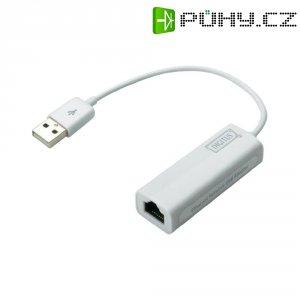 Síťový adaptér USB 2.0 ⇔ LAN (10/100 Mbit/s), Digitus