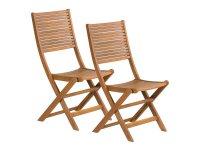 Nábytek zahradní židle 2 ks FIELDMANN FDZN 4012 skládací