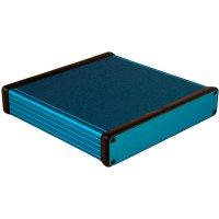 Univerzální pouzdro hliníkové Hammond Electronics, (d x š x v) 160 x 165 x 30,5 mm, modrá