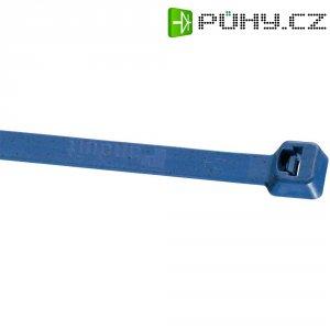 Stahovací pásek Panduit PLT4S-C186, 366 x 4,8 mm, tmavě modrá