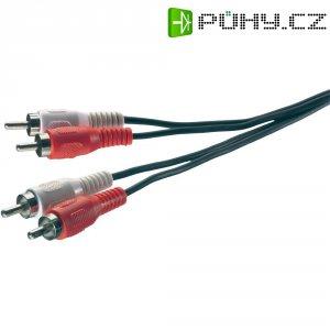 Připojovací kabel SpeaKa, 2x cinch zástr./2x cinch zástr., černý, 2,5 m