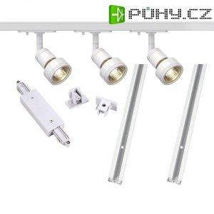 Lištový systém svítidel SLV, 1fázový, halogen, 3x 50 W, GU10, bílá