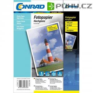 Conrad fotopapír A4,190G,20listu, lesk