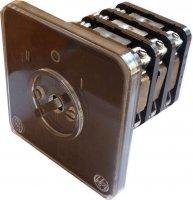 Vačkový spínač S63 V06, 63A/500V~, 3 polohy, reverzační