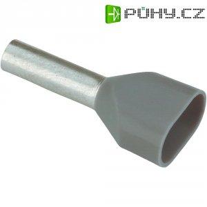 Dvojitá dutinka Vogt 490208D, 0,75 mm², 8 mm, 100 ks, šedá