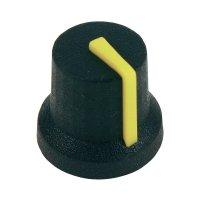 Otočný knoflík Cliff CL170850BR, pro sérii K87MBR, 6 mm, s drážkováním, černá