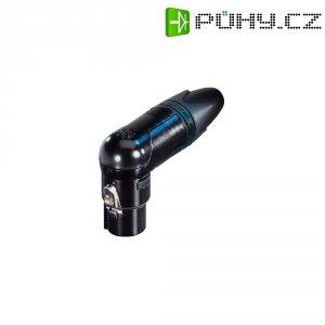 XLR kabelová zásuvka Neutrik NC4FRX-B, úhlová, 4pól., 3,5 - 8 mm , černá