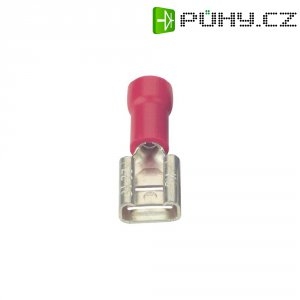Faston zásuvka Vogt Verbindungstechnik 390005 2.8 mm x 0.5 mm, 180 °, částečná izolace, červená, 1 ks