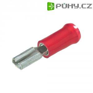 Faston zásuvka TE Connectivity 160834-2 s odbočkou, 6.3 mm x 0.8 mm, 180 °, částečná izolace, červená, 1 ks