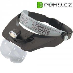 Čelní lupa s LED osvětlením RONA 460 202, zvětšení 1,2x/1,8x/2,5x/3,5x