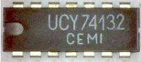 74132 - 4x 2vstup. NAND, schmit. KO, DIL14 /UCY74132/