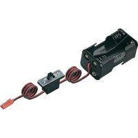 Držák baterie Modelcraft, 4x AA, BEC, se spínačem