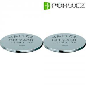 Knoflíková baterie Varta CR2430, lithium, 2 ks, 6430101402