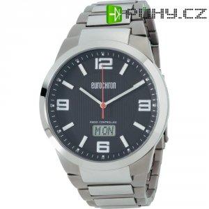Ručičkové náramkové DCF hodinky Eurochron EFAUT 3303, titanový pásek