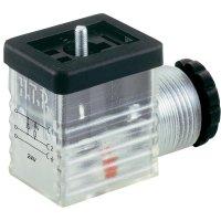 Ventilový konektor M1TS2DL1-H, IP65 (namontované), transparentní, 3pólový